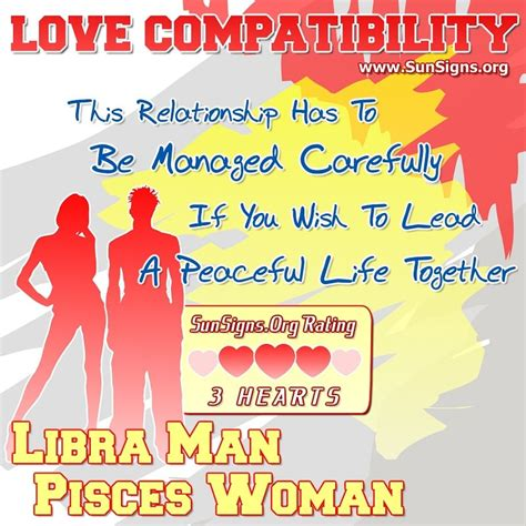 libra man and pisces woman love compatibility sun signs