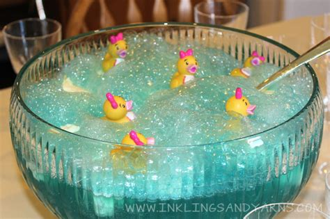 ducky bath baby shower punch duckling baby shower inklings yarns