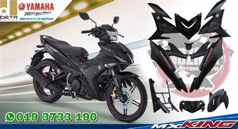 Cap Tutup Knalpot Yamaha Jupiter Mx New Original coverset y15zr mx king hitam mati drift black matte other motorcycles imotorbike malaysia