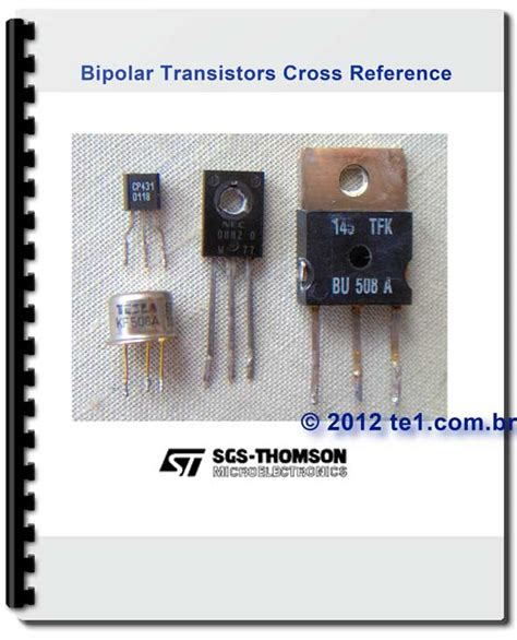 transistor data and equivalent sgs thomson bipolar transistors cross reference