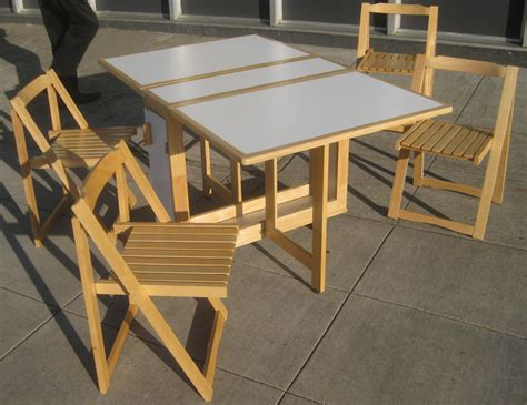 foldable table and chairs try and attractive foldable dining table purplebirdblog