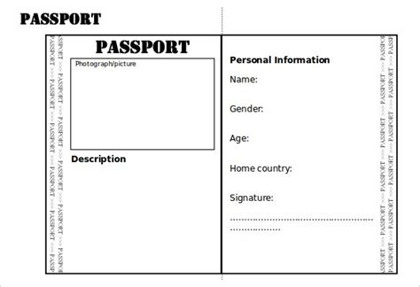 italian passport template passport template 19 free word pdf psd illustrator
