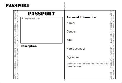 Passport Template For Kids Tristarhomecareinc Children S Play Passport Template