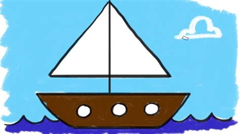 boat drawing basic boat drawing for kids www pixshark images