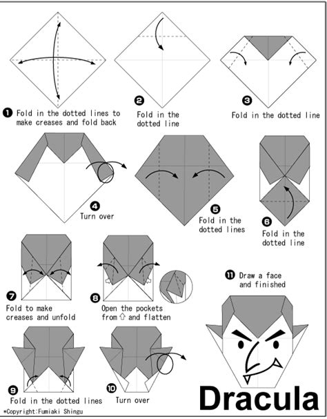 Easy Origami Club - origami a dracula easy origami for