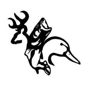 buck duck and fish browning unlimited family decal