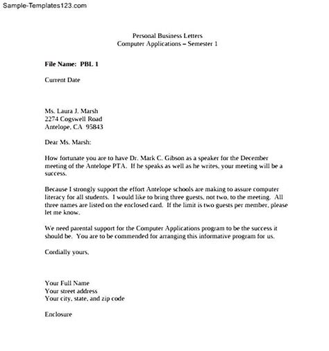 Business Letter Writing Assignment Letter Of Assignment