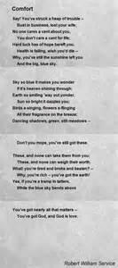 comfort poem by robert william service poem