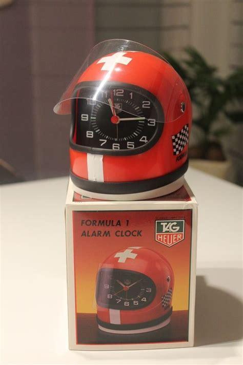jam alarm helm helmet clock tag heuer f1 helmet alarm clock vintage and swiss