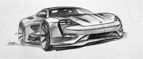 porsche concept sketch porsche mission e concept sketch sketches
