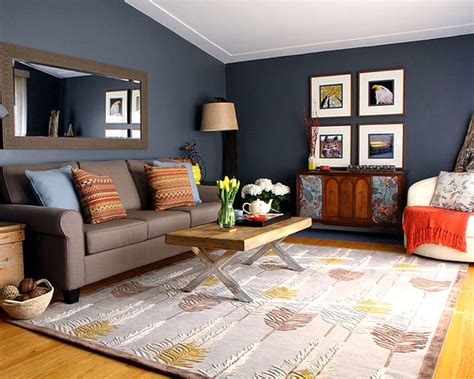 warna cat  bagus  ruang tamu abu abu desain