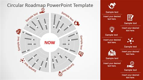 Circular Roadmap Powerpoint Template Timeline Design And Free Roadmap Template Powerpoint 2