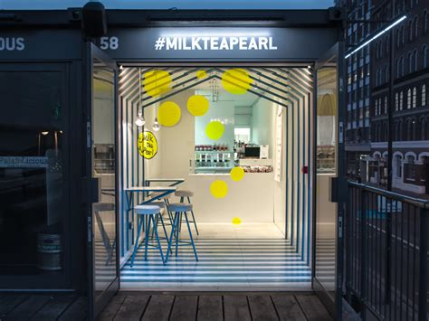 milk gallery design store milk tea pearl box park london by atelier yao