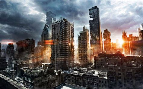 city background destroyed city backgrounds wallpaper cave