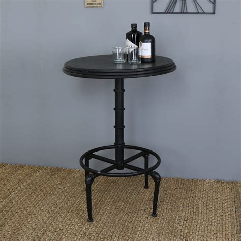 Metal Bar Table Black Metal Industrial Adjustable Bar Table Melody Maison 174