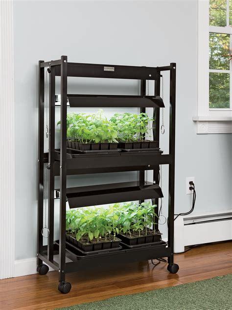 led sunlite compact  tier grow lights gardeners supply