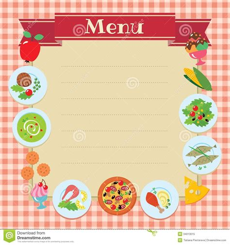 blank food menu template blank food menu template world of printable and chart