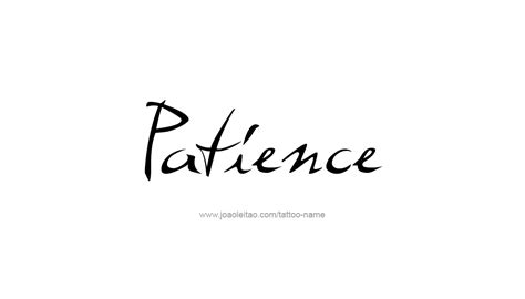 patience name tattoo designs