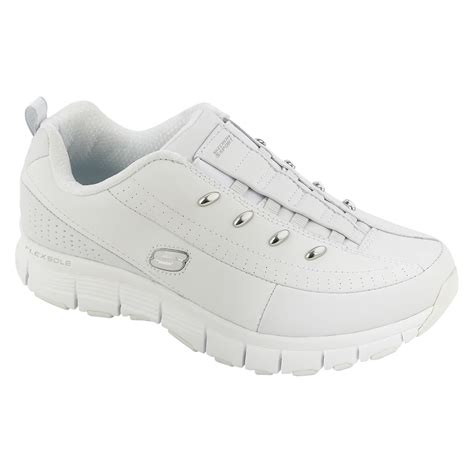 skechers women s flex fit casual athletic shoe white