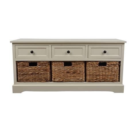 Light Storage by Light Grey Wooden Bench With Shoe Storage And Drawers