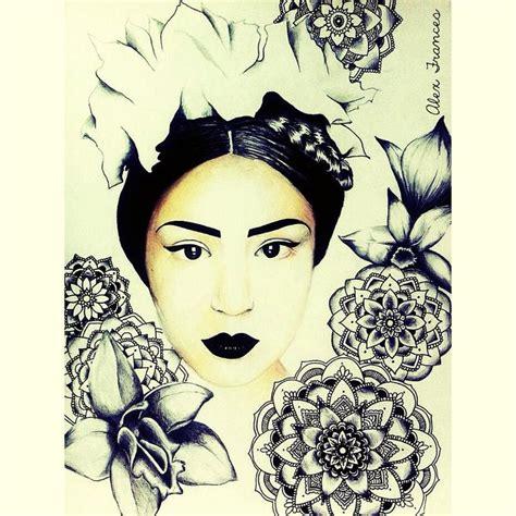 tattoo oriental mandala oriental mandala geisha illustration black lipstick orchid