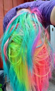 color dye hair neon rainbow hair hair colors ideas
