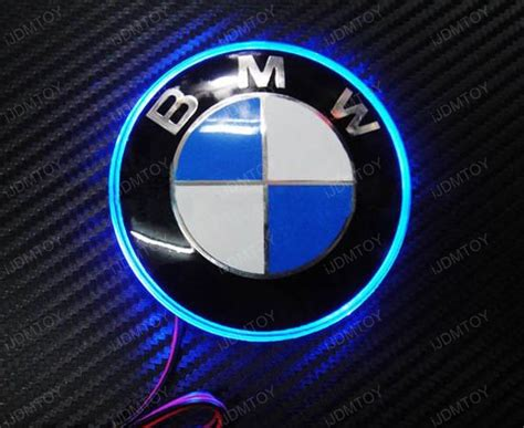 light blue bmw x5 blue emblem led background light for bmw 3 5 7 series x3