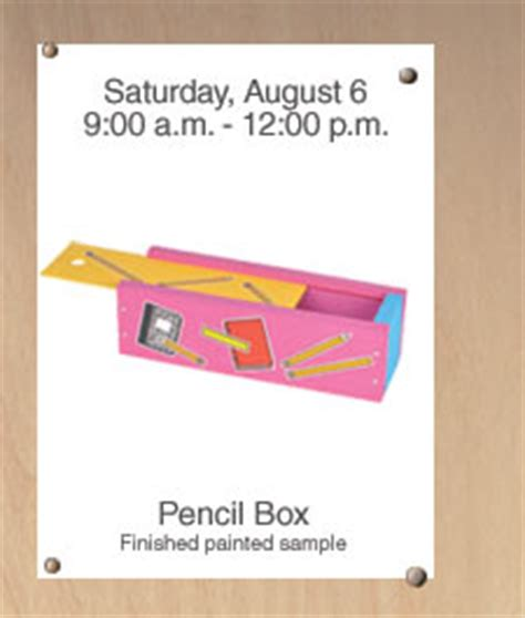 Taking The Kiddos To School by Sat Aug 6th Home Depot Workshop Free Project