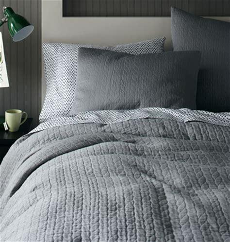 gray matelasse coverlet organic feather gray braided matelasse bedding decor by