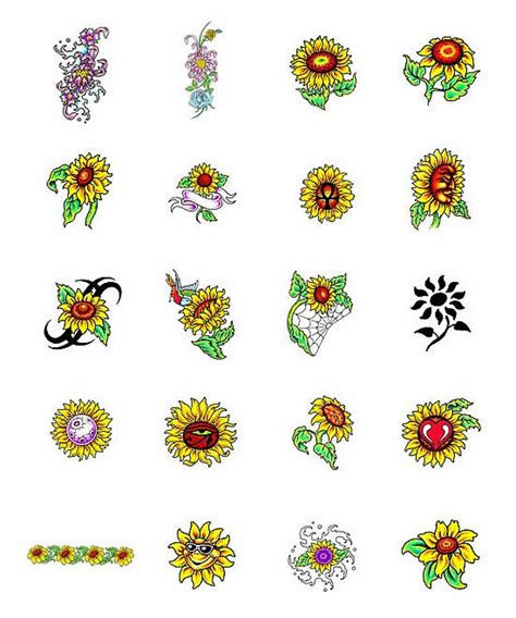 tribal sunflower tattoo design sunflower tattoos