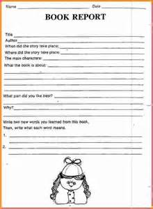 3rd Grade Book Report Template by Book Report Template 3rd Graders