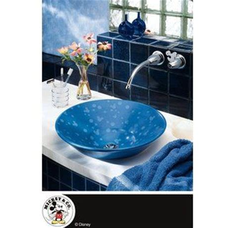 lavatory sink mickey mouse and water faucet on