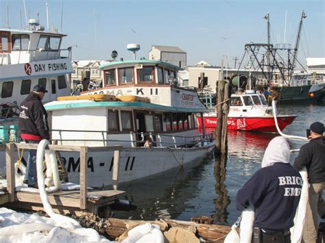 party boat fishing point pleasant nj norma k ii party boat sinks in point pleasant beach