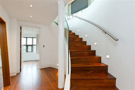 stairwell lighting staircase contemporary with ceiling