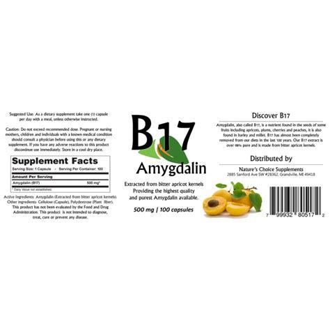 Vitamin B17 b17 vitamin amygdalin