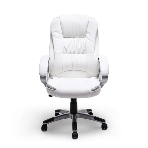 white leather office chair executive white manger pu leather office chair high back