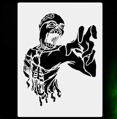 printable zombie stencils zombie torso 2 airbrush stencil template airsick zombies