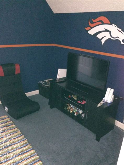 denver broncos bedroom peyton s broncos bedroom for the home pinterest