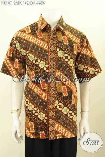 Kemeja Batik Ngantor Pria Lengan Pendek Primisima 1 model baju batik lengan pendek pria gemuk busana batik