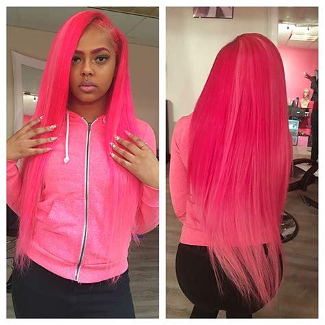 Long Pink Sew In Weave | pinterest teethegeneral hair laid pinterest