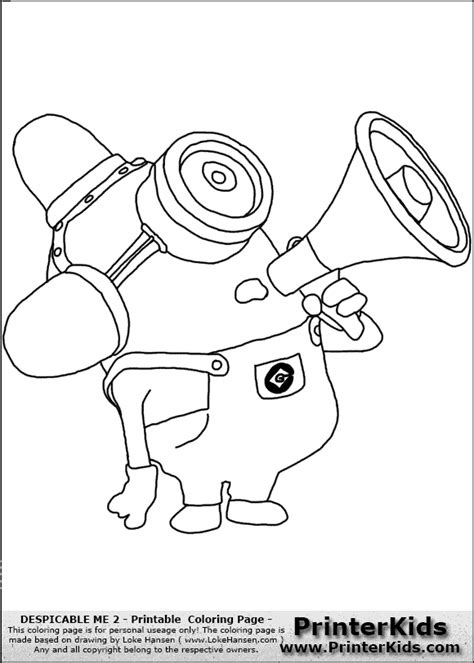 coloring pages minions despicable me despicable me 2 minions coloring pages www esmethompson
