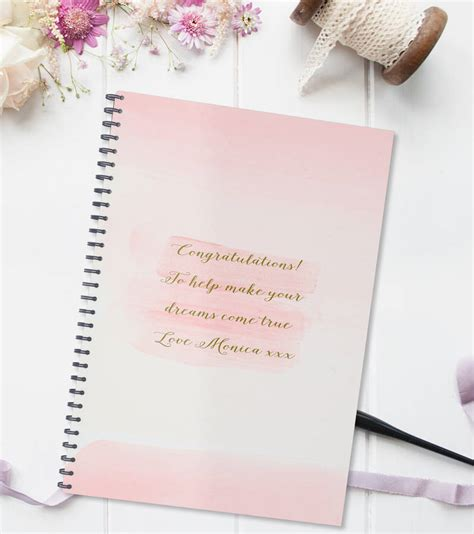 Wedding Planner Notebook by Personalised Wedding Planning Notebook Gift By August