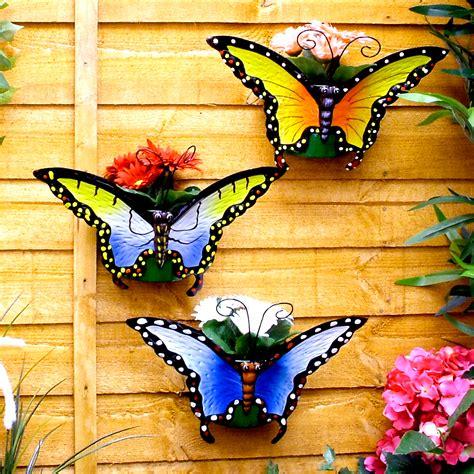 Butterfly Wall Planters set of 3 butterfly wall planters potted plant pot flower flowerpots ebay