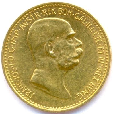 austria 10 corona *small head* gold coin 1909
