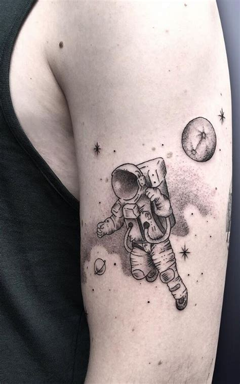 astronaut tattoo inkstylemag