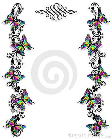 butterfly border template butterfly border invitation template royalty free stock