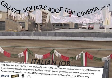 event design internship london the italian job roof top cinema screening dalston