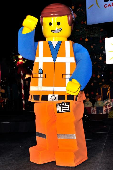 emmet mascot costume from the lego