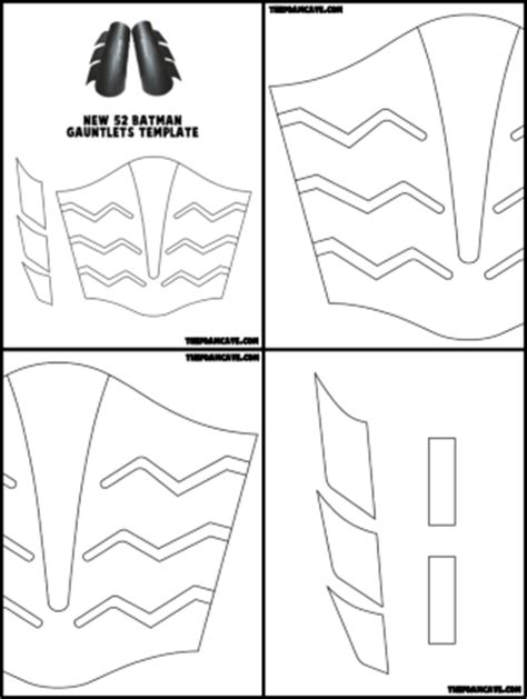 template for new 52 batman gauntlets the foam cave