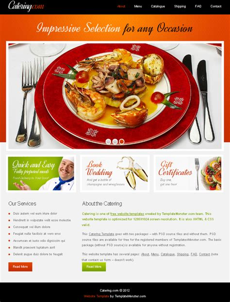 Food Delivery Project Web Template Template Food Ordering Website Templates